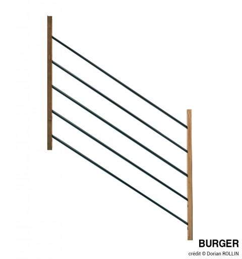 Rampant d'escalier MOKA 120 cm