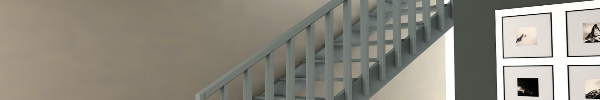 L'escalier ABIES en pin, de la marque Burger- La Boutique Booa