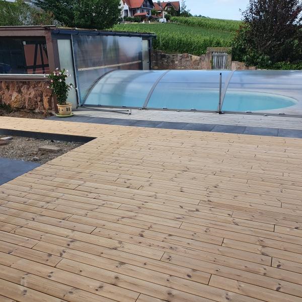 Terrasse en bois thermopin