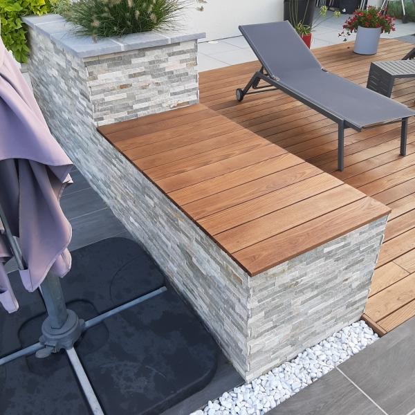Terrasse en bois thermofrène